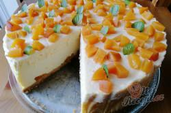 Příprava receptu Vanilkový cheesecake s broskvemi, krok 2