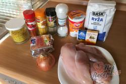 Příprava receptu Kuřecí prsa na kari, krok 1