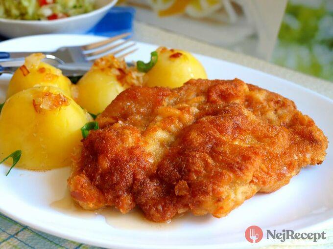 Recept Smažená krkovice s bramborem