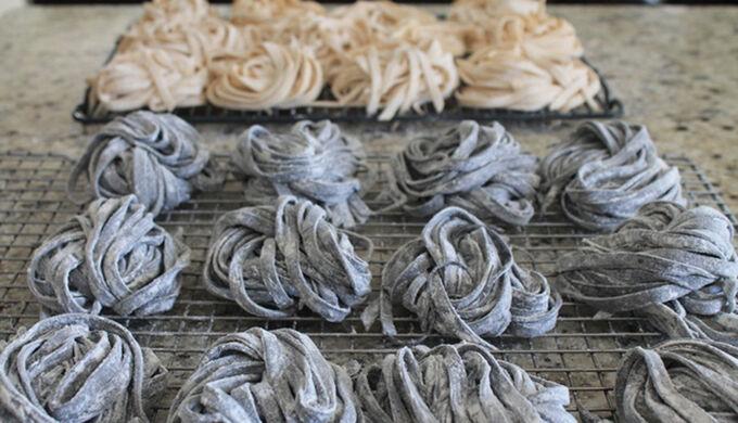 Recept Domácí těstoviny - čisté a se sépií
