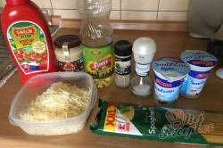 Příprava receptu Špagety s kuřecím masem ve smetanové omáčce, krok 1