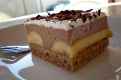 Příprava receptu Banánové řezy s čokoládovým krémem, krok 5