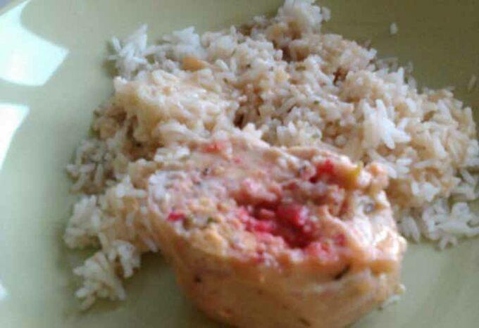 Recept Kuřecí závitek s krabími tyčinkami