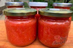 Příprava receptu Česnekovo rajčatová směs za studena, kterou netřeba ani zavařovat a nezkazí se., krok 6