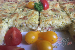 Příprava receptu Cuketový nákyp se šunkou a sýrem, krok 8