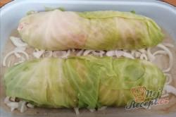 Příprava receptu Zelná fantazie - zelná rolka plněná mletým masem, krok 4