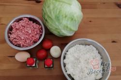 Příprava receptu Zelná fantazie - zelná rolka plněná mletým masem, krok 1