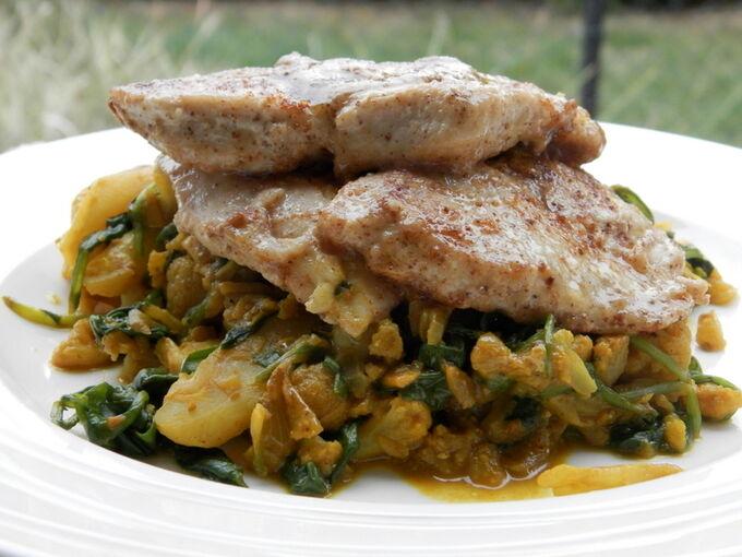 Recept Kari květák s kuřecím masem