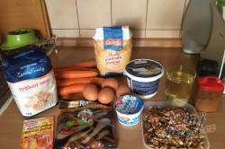 Příprava receptu Zdravější zákusek KRÁLÍČEK s mascarpone krémem a oříšky, krok 1