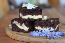 Příprava receptu Zdravější vanilkovo-kakaové brownies s cottage sýrem, krok 1