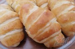 Příprava receptu Mini skládané máslové rohlíčky s tvarohovou náplní, krok 11