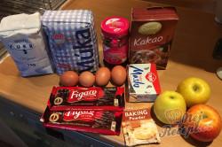 Příprava receptu Jablečný dort na způsob luxusního Sacher dortu, krok 1