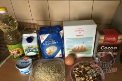 Příprava receptu Zcela jednoduché řezy ze zakysanky, krok 1