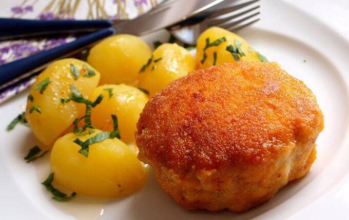 Recept Holandský řízek s vařenými bramborami