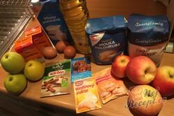 Příprava receptu Obrácený jablečný zákusek s pořádnou dávkou šlehačky, krok 1