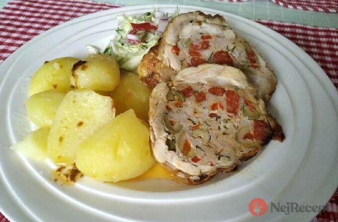 Recept Kuřecí galantina s bramborami