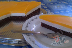 Příprava receptu Tvarohový koláč s pomerančovou želatinou, krok 21