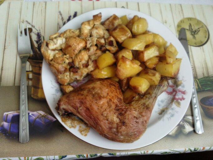 Recept Pečené kuře s nádivkou