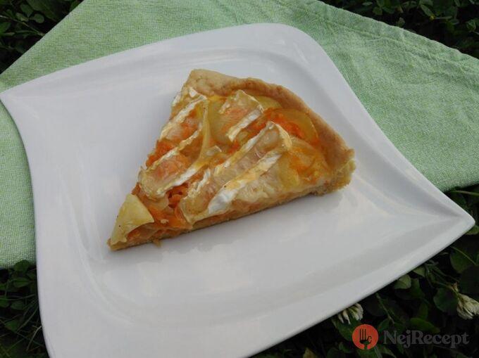 Recept Mrkvový quiche s hermelínem