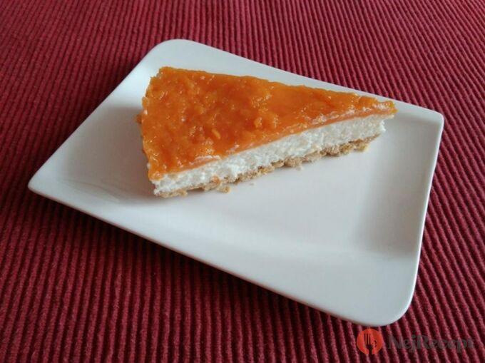 Recept Meruňkový koláč s tvarohovým krémem