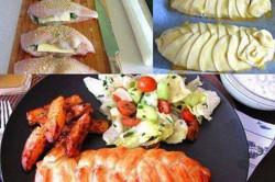 Příprava receptu Plněná kuřecí prsa v listovém těstě, krok 1