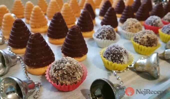 Recept Vosí hnízda a kuličky s oříškem (nepečené)