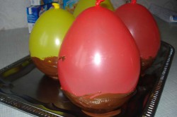 Příprava receptu Dezert ,,pštrosí vajíčka,,, krok 1