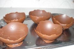 Příprava receptu Dezert ,,pštrosí vajíčka,,, krok 3