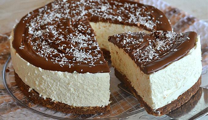 Kokosový cheesecake s nutelou BEZ PEČENÍ