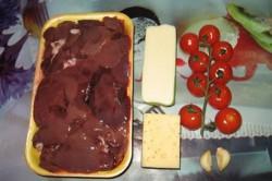 Příprava receptu Zapečená kuřecí játra pod sýrovou peřinkou, krok 1