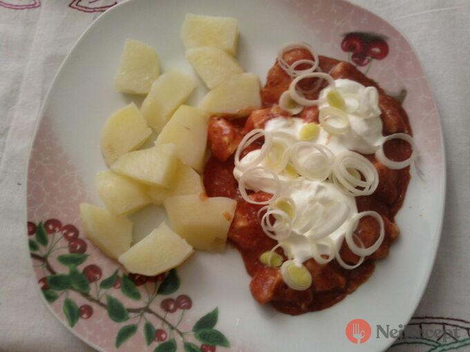 Recept Maso se zakysanou smetanou a porkem