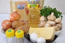 Príprava receptu Papučky z lístkového cesta plnené hubami, krok 1