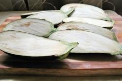 Príprava receptu Plnený baklažán s tvarohom, krok 1