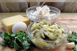 Príprava receptu Plnený baklažán s tvarohom, krok 2
