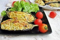 Príprava receptu Plnený baklažán s tvarohom, krok 4