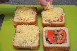 Príprava receptu Plnené sendviče - 2 druhy, krok 5