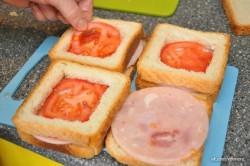 Príprava receptu Plnené sendviče - 2 druhy, krok 7