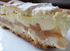 Rychlý jablečný koláč s pudinkem
