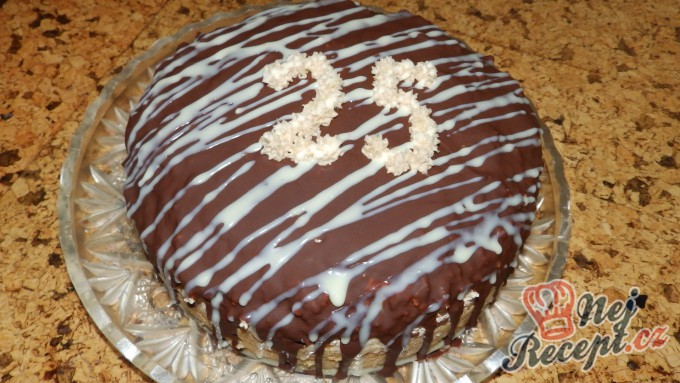 Recept Kokosovo-kakaový dort