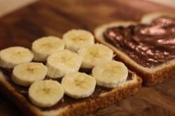 Příprava receptu Nutellové tousty s banánem, krok 1