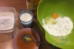 Příprava receptu Kokosové kostky z jednoho vajíčka, které zmizí z plechu rychlostí blesku, krok 2