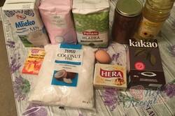 Příprava receptu Kokosové kostky z jednoho vajíčka, které zmizí z plechu rychlostí blesku, krok 1