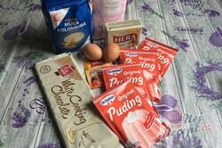 Příprava receptu Růžové linecké vánoční cukroví z pudinkového prášku, krok 1