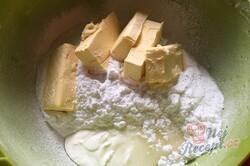 Příprava receptu Falešné linecké těsto z bílého jogurtu, krok 2