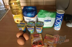 Příprava receptu Dokonalé pribináčekove koblihy, krok 1