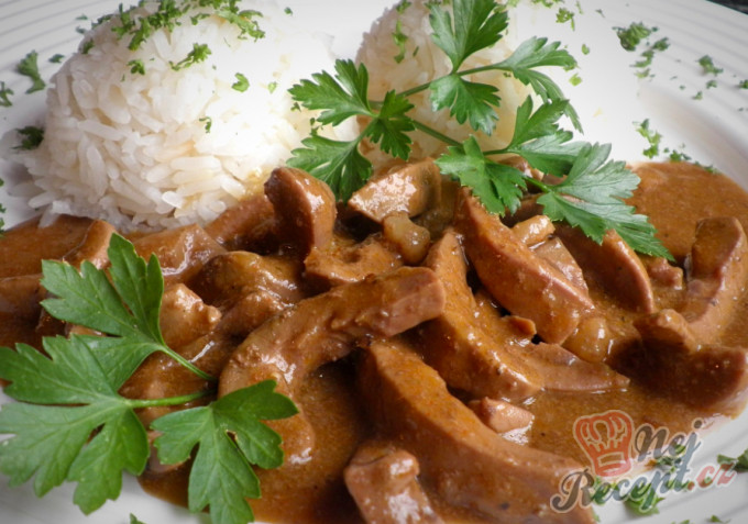 Recept Dušené vepřové ledvinky s jasmínovou rýží