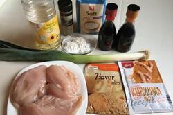 Příprava receptu Minutková kuřecí prsa na čínský způsob, krok 1