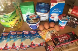 Příprava receptu Nadýchaný šlehačkový zákusek s čokoládou, krok 1