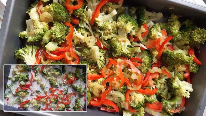 Recept Snadná a rychlá večeře - pekáč s brokolicí