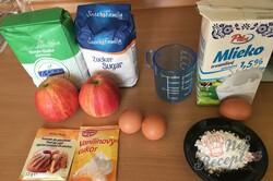 Příprava receptu Jablečná krémová mřížka na hrnky, krok 1